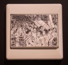 Enggar Yuwono's work titled Pasar Burung (The Bird Market). JP/Tarko Sudiarno