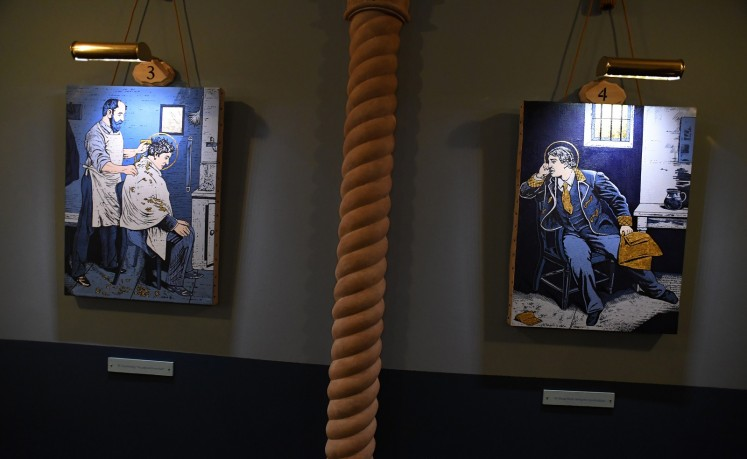 A secular temple devoted to the Irish wit and playwright opened in the basement of the New York church on Tuesday, crammed with devotional style religious art to honor a trailblazer of gay rights.