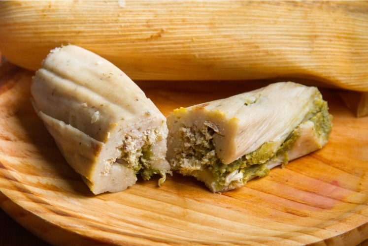 Tamal is a favorite Mexican street delight.