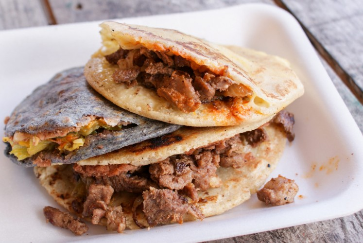 Different from other kinds of taco, the 'gordita' has its filling tucked inside.