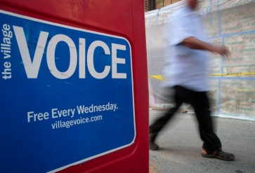 'Village Voice' delivers its last print edition