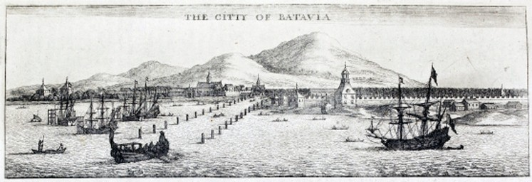 Occupation begins: An illustration of the British arrival in Batavia, modern-day Jakarta.