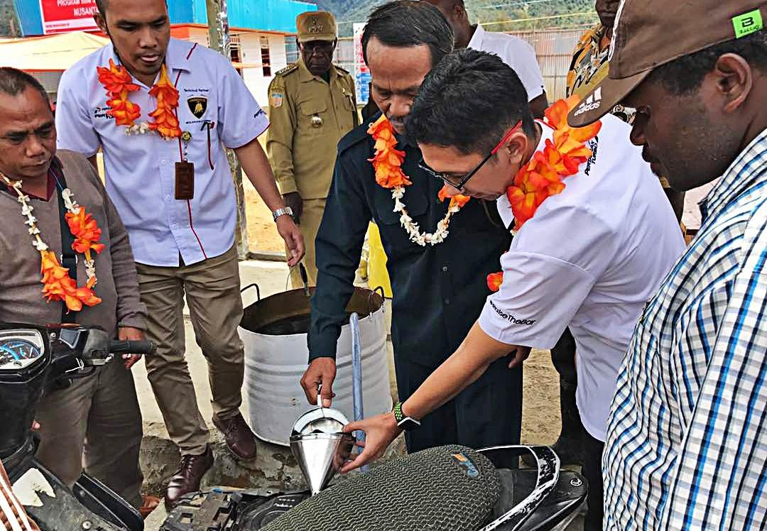 Gasoline in Wamena soars to Rp 50k per liter