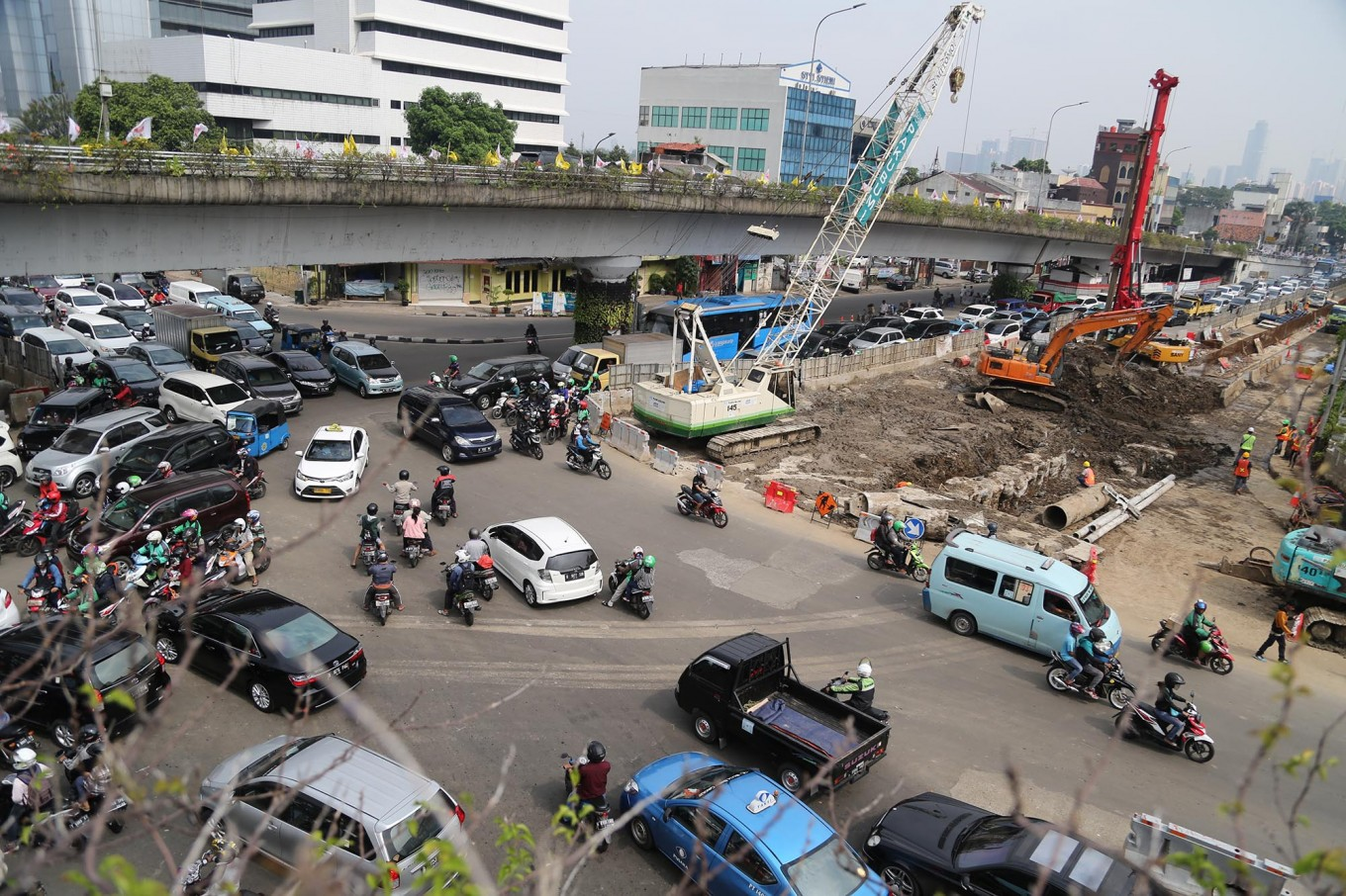 Manggarai traffic diverted for double-track railway project