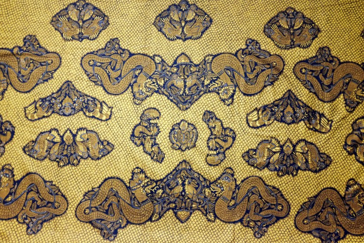 A batik from batik master Go Tik Swan is on display at the Textile Museum in Tanah Abang, Central Jakarta until Nov. 12.