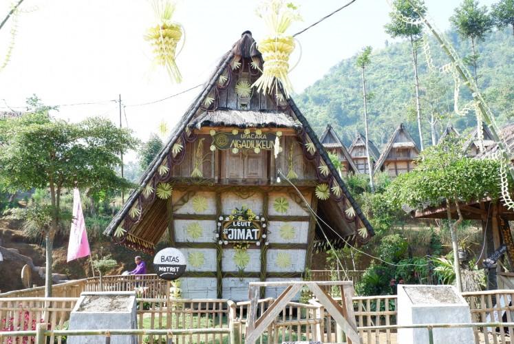 'Leuit Si Jimat', the main rice barn of the cultural village Ciptagelar.
