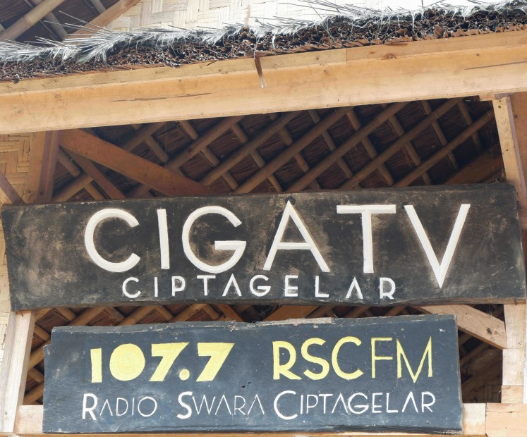 Ciptagelar has its own TV channel named CIGA TV and a radio station.