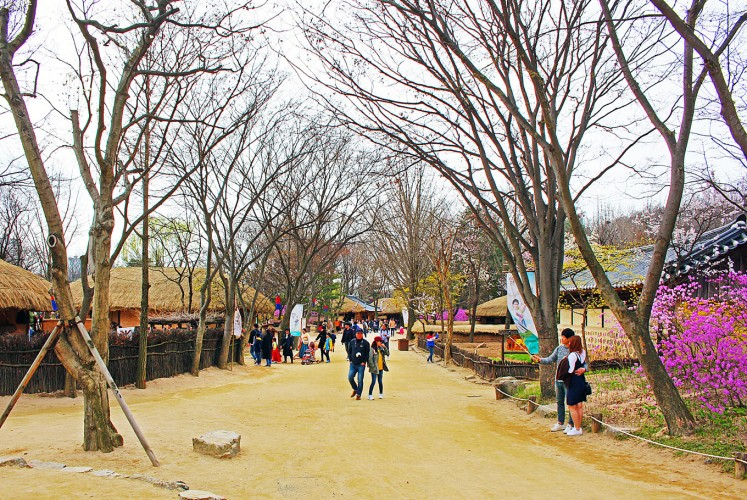 Get into the feel: More than 270 traditional Korean structures have been relocated at the one location.