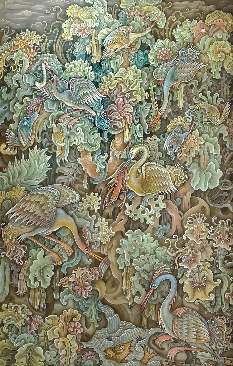Lot 561 'Burung-Burung Surgawi' by Dewa Ketut Rungan