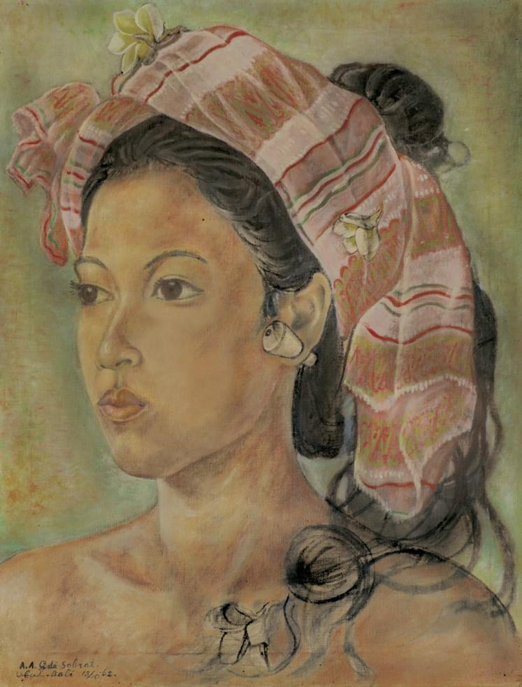 Lot 574 'Potret Wanita Bali' by A.A Gde Sobrat