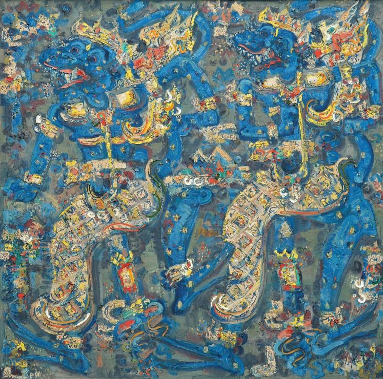 Lot 559 'Subali & Sugriwa' by Nyoman Gunarsa