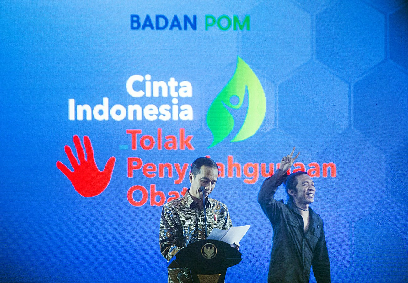 Jokowi launches national program to combat illegal drugs