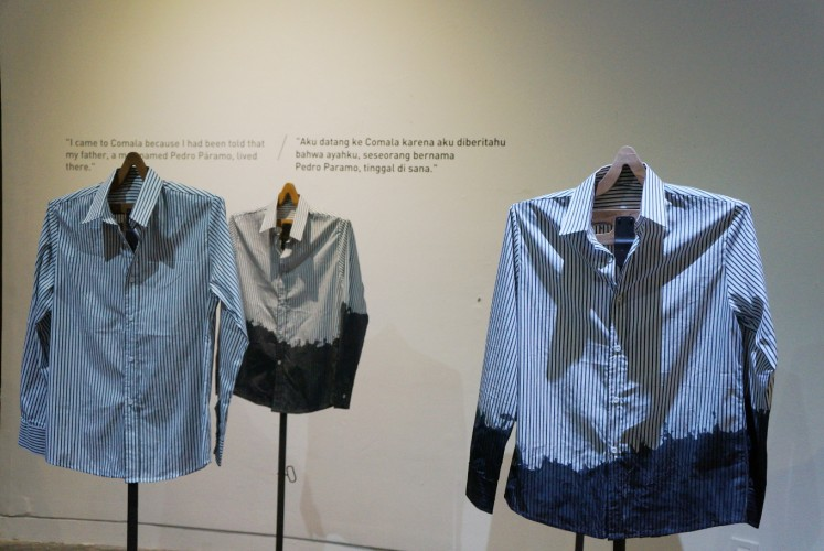 Some of the shirts exhibited at 'Xalisco Performative Exhibition: Juan Preciado'.
