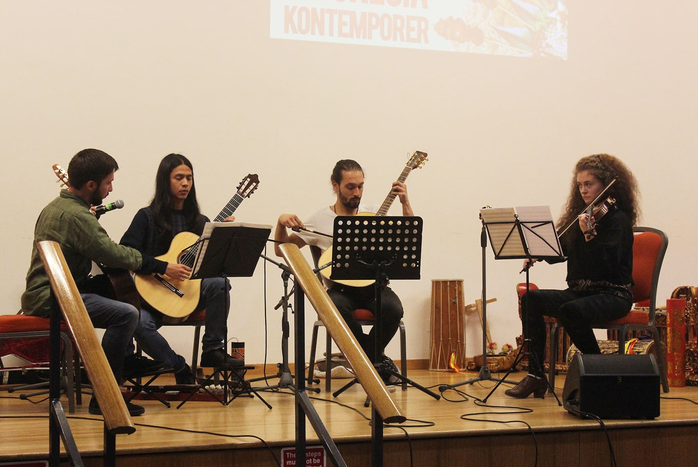 Gado Gado Ensemble performs at the IKON Festival 2017.