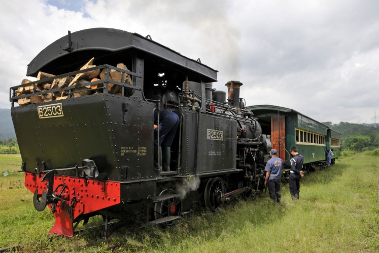 Choo, choo: The B 2503 brought up to steam for a trip from Ambarawa to Bedono on the rack and pinion railway.