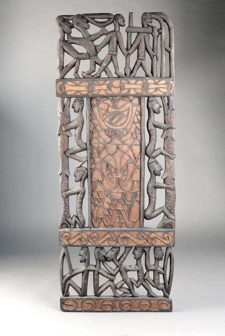 Asmat carvings