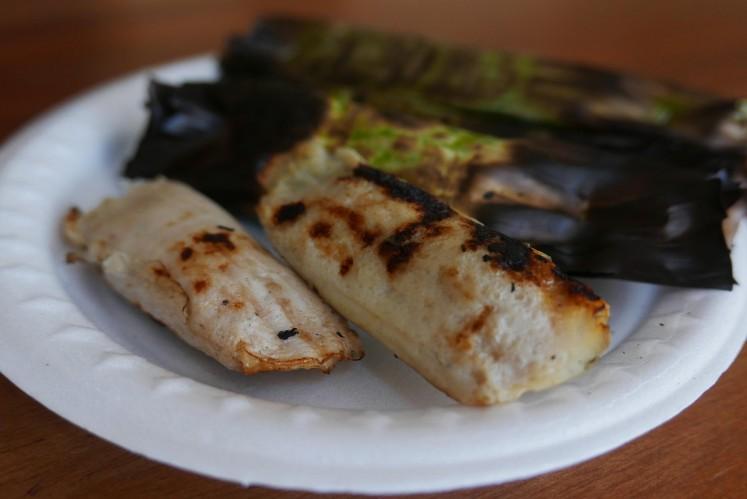 Binatu An is famous for its soft and chewe 'otak-otak' (fish cake).