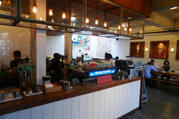 Koultoura, open from 7 a.m. to 9 p.m., offers good coffee brews and a quiet space to catch up on some work.
