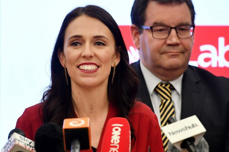 Leader of the Labour party Jacinda Ardern speaks at a press conference at Parliament in Wellington on Oct. 19, 2017. Outgoing New Zealand Prime Minister Bill English conceded defeat in the country's general election on October 19, congratulating centre-left rival Jacinda Ardern on her victory.