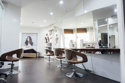 The first floor of S.H.A.G. offers hair styling and chemical styling services.