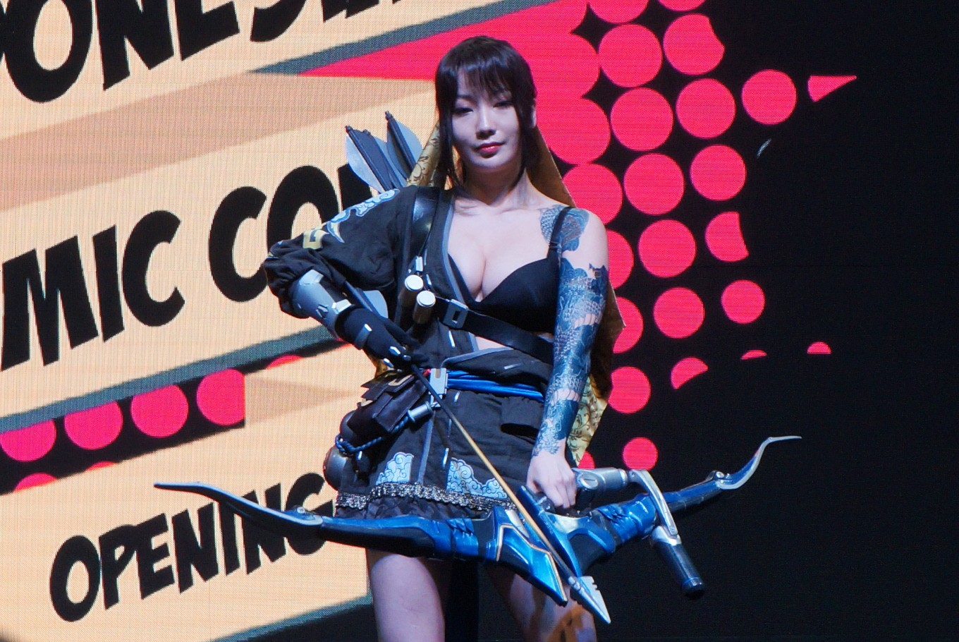South Korean 'cosplayer' Pion Kim during the  2017 Indonesia Comic Con opening ceremony at the Jakarta Convention Center, Senayan, South Jakarta, on Saturday, Oct. 28, 2017.