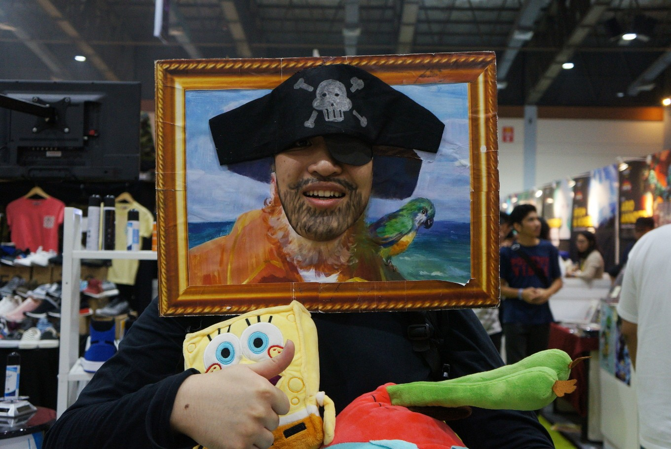 A cosplayer poses as Painty the Pirate or Captain from Nickelodeon's 'SpongeBob SquarePants.'
