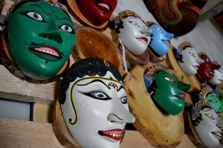 Traditional masks from the Tales of Panji.