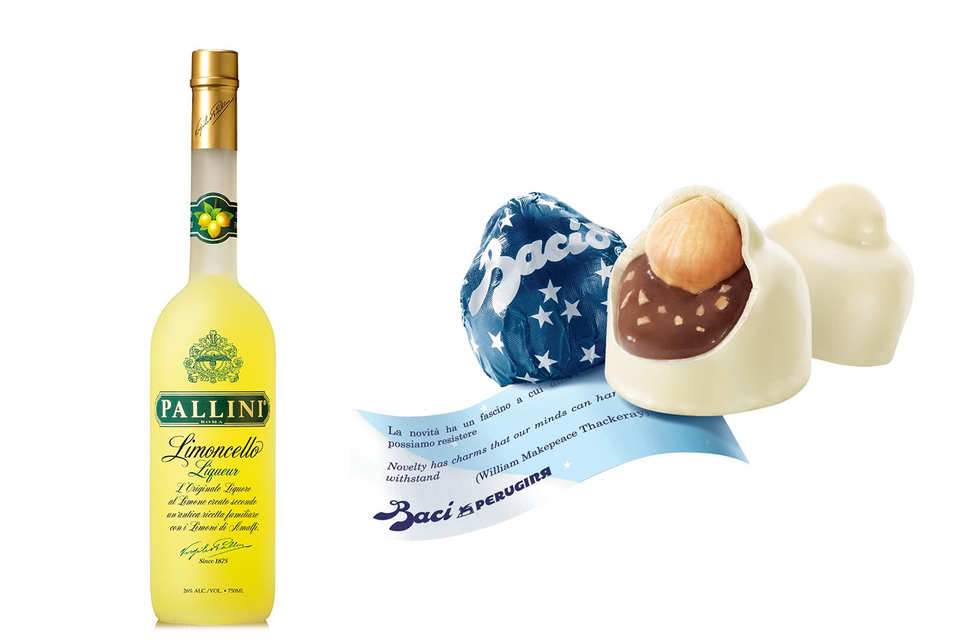 ITALY - Drink: Limoncello, a lemon liqueur mainly produced in southern Italy and best served chilled as an after-dinner digestive. It is a perfect drink after a meal, especially when paired with the typical Italian almond biscuits called cantucci. <br> <br> Eat: Baci perugina–fine, small and dark chocolates filled with chocolate-hazelnut cream and a whole hazelnut. Created in 1922, they represent a long history of Italian excellence by Perugina (baciperugina.com), a master in chocolate making. Apart from a taste that will indulge your palate, each piece is wrapped in a collectable message of love and friendship. (Michela Magri, Director of the Italian Cultural Institute)