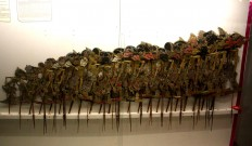 A set of Wayang Gedog (Gedog puppets), presumably created in the 1940s, on display. JP/Maksum Nur Fauzan
