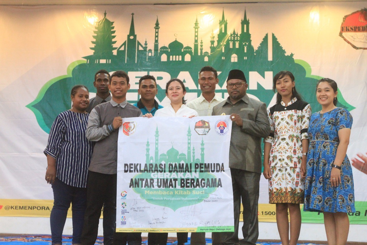 Minister witnesses peace declaration of Merauke interfaith youth