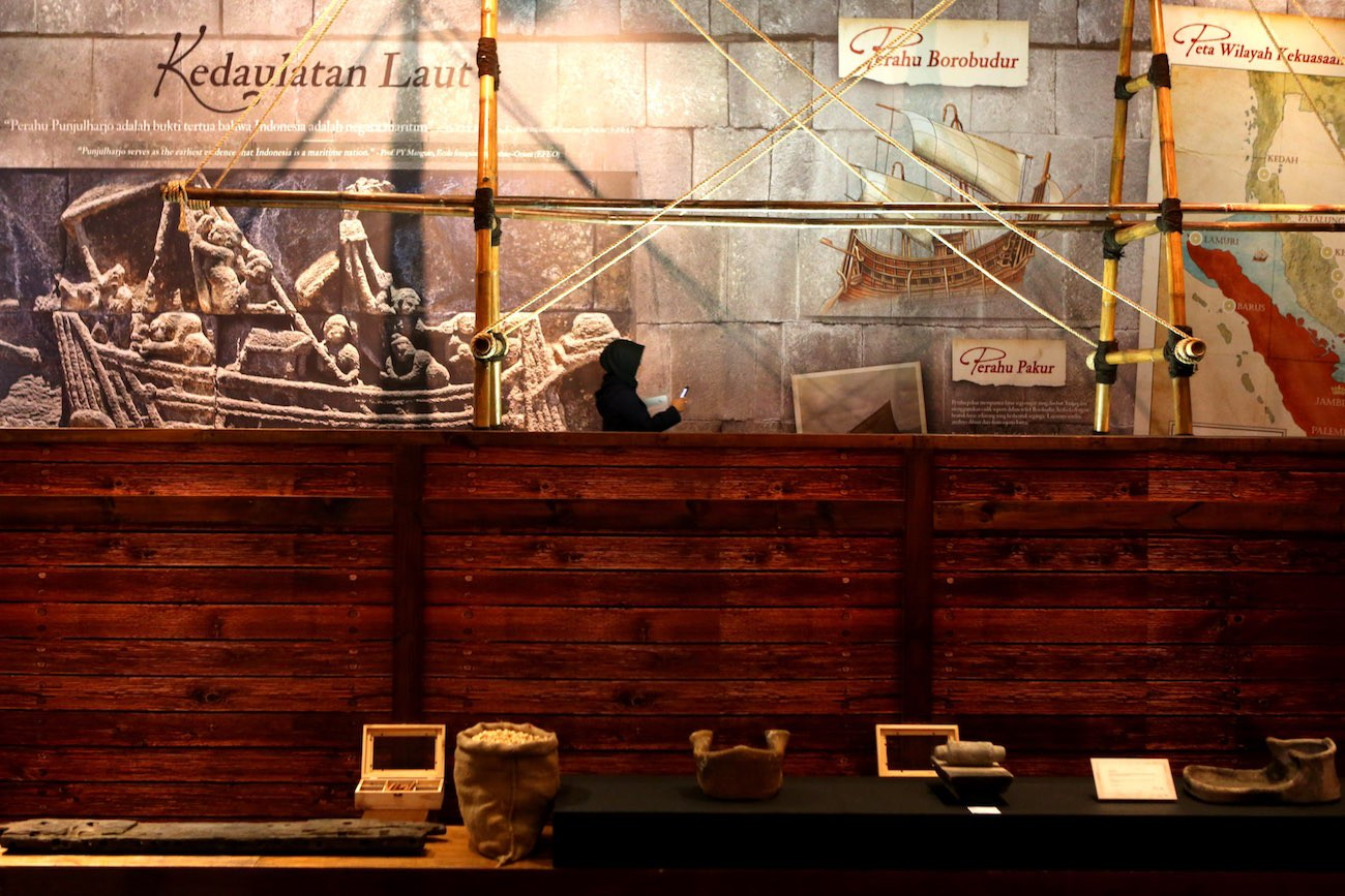 Artefacts from Sriwijaya glory on display at the Kedatuan Sriwijaya: The Great Maritime Empire exhibition.