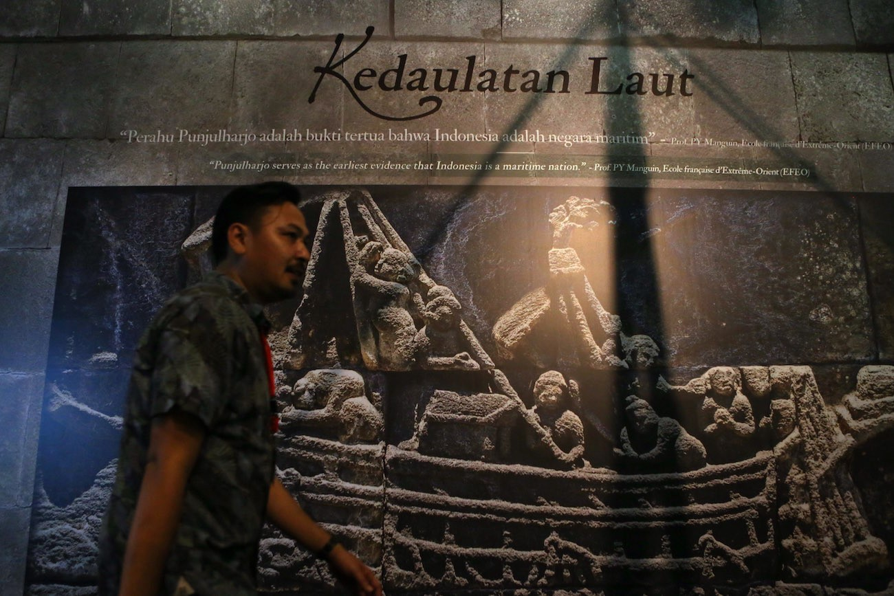 Sea soverignty wall at the Kedatuan Sriwijaya: The Great Maritime Empire exhibition.