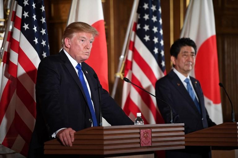 Trump hosts Abe with North Korea, trade on the agenda