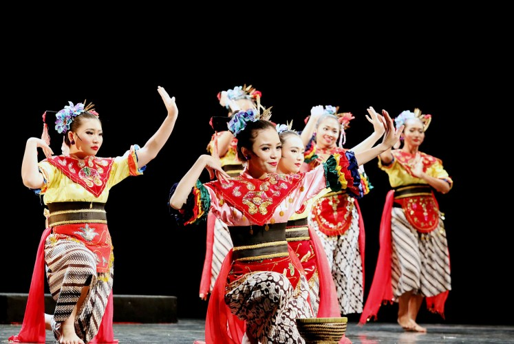 Feel the groove: A group of dancers from Sanggar Tari Paduraksa Tebet performs on stage during the third installation of Jakarta Dance Meet Up in October.
