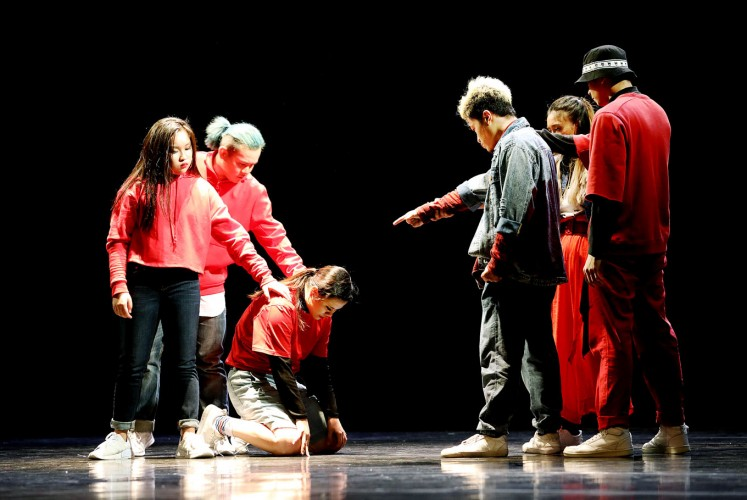 Work in progress: Members of the Indonesian Dance Theater troupe perform Input, Process, Output from choreographer Febyanna Serafine. The performance tells the creation of dance itself.