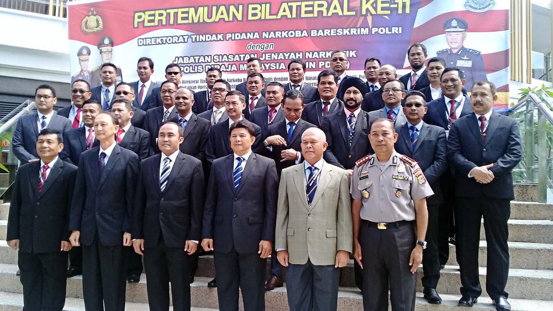 RI, Malaysian police discuss partnership to combat drugs