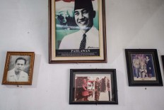 An old portrait of Sukarno is hung on the wall. JP/Anggara Mahendra