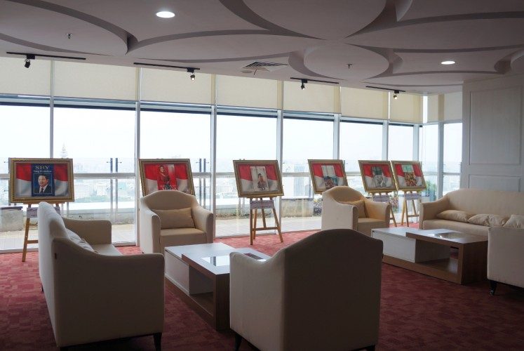 The executive lounge of the National Library of Indonesia on the 24th floor.