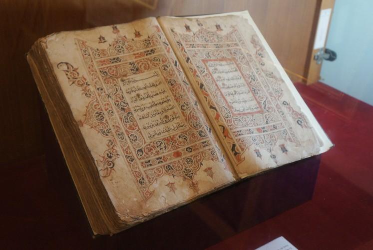 'Al-Quran Al-Karim' (Quran Al-Karim) is one of the ancient texts on show at the Heritage Building.