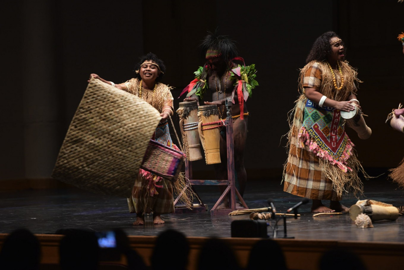 Voices of Papua perform at the 2017 Europalia Arts Festival Indonesia opening ceremony.