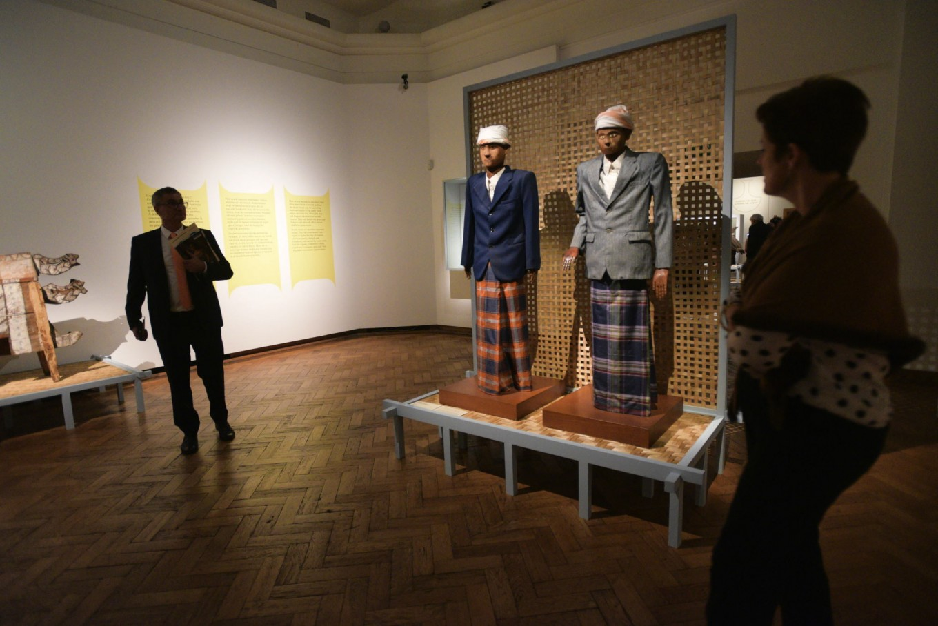 Two wooden effigies called 'tau tau' from Toraja are currently on loan from the National Museum of Indonesia and are being shown during the 2017 Europalia Arts Festival Indonesia.