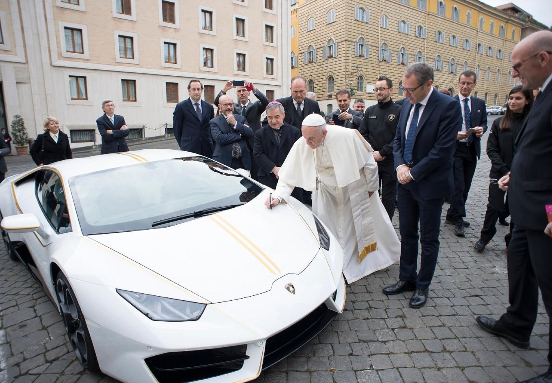 Godspeed: Francis passes on Lamborghini