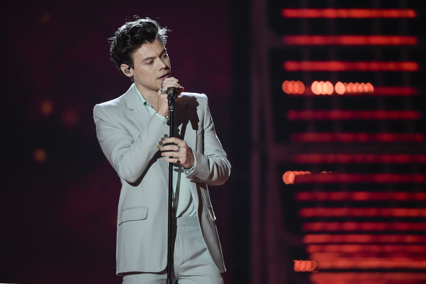 1d76c0ee856 British singer musician Harry Styles performs during the 2017 Victoria s  Secret Fashion Show in Shanghai