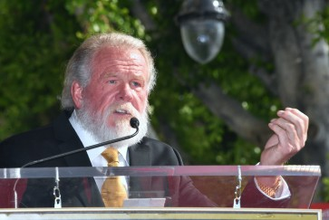 Gruff journeyman Nick Nolte honored with Hollywood star