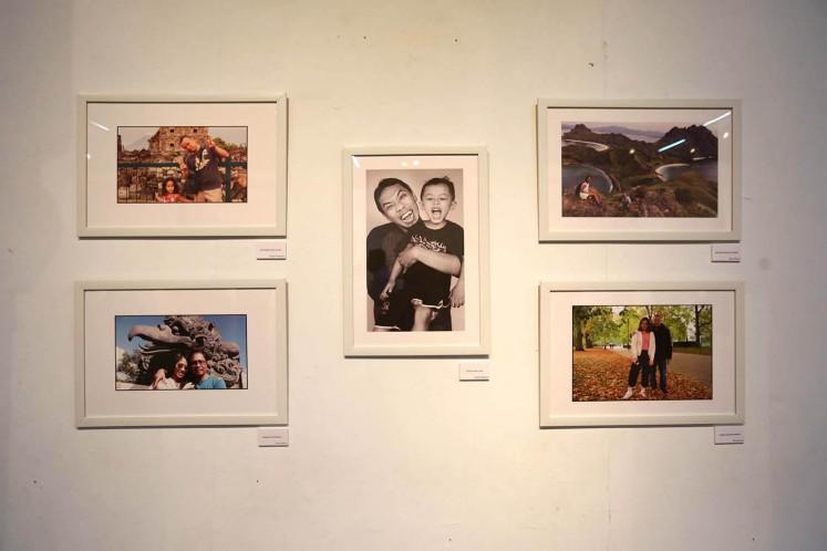 Some of the photos displayed at 'Ini Ayah Hebatku' photo exhibition on Monday, Nov. 20 at Bentara Budaya, Central Jakarta.
