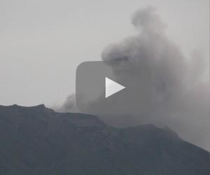 Mount Agung in Bali erupts