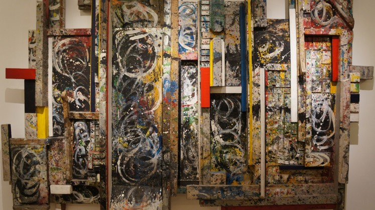 'City of Destruction' ( 1997 ), a mixed media artwork by Made Wianta.