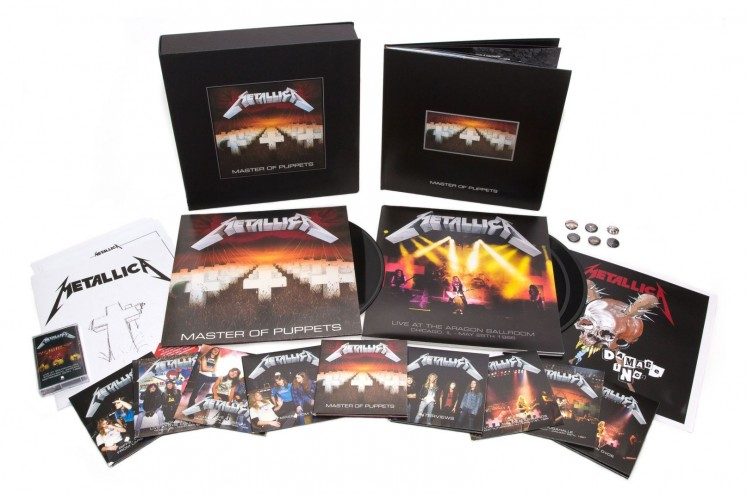 The box set of Metallica's classic album contains remastered tracks of the original album as well as an array of unreleased demos, rough mixes, interviews, and live recordings. Image: Consequence of sound