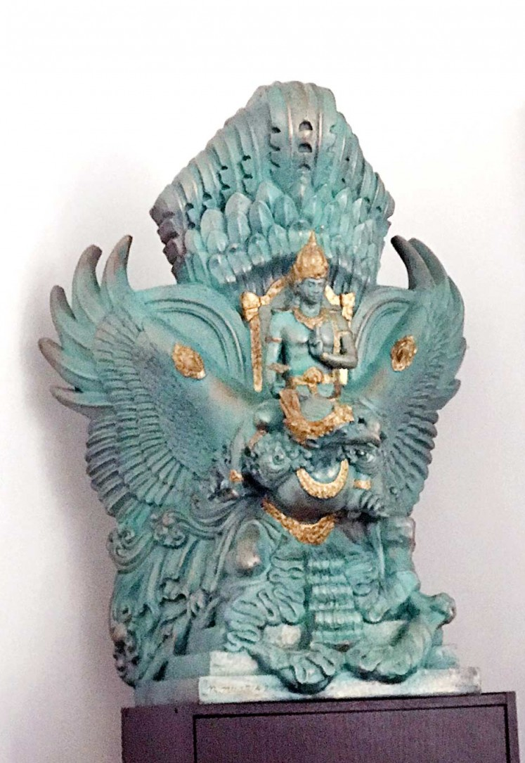 Myth: A scale model of the Garuda Wisnu Kencana monument. When completed, it will be taller than the Statue of Liberty.