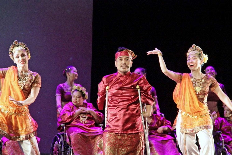 Strong: Jakarta Disabled Children's Foundation (YPAC) performances showcase the hidden talents of the foundation's members to the public.